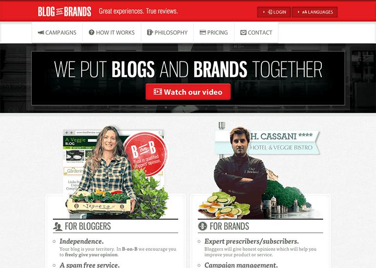 Blog on Brands website