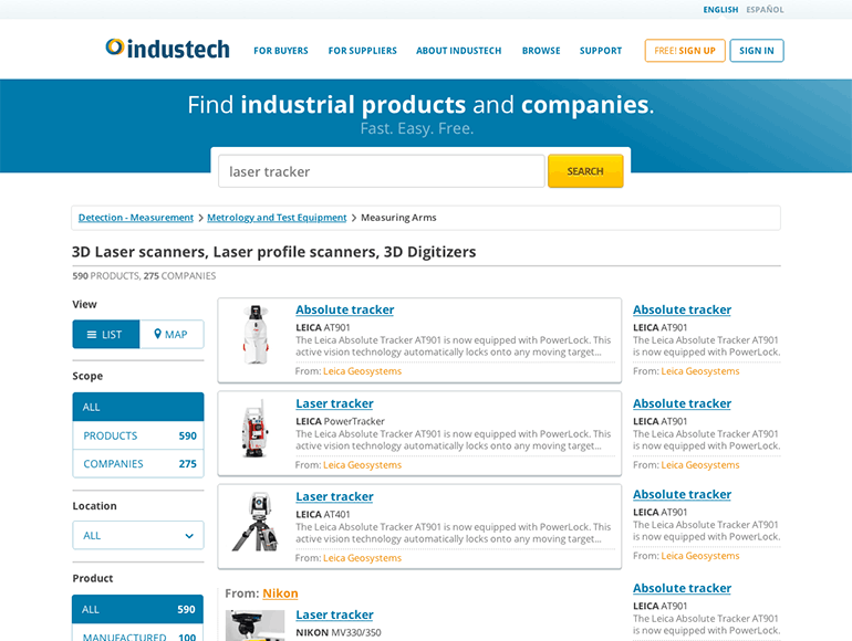 Industech website
