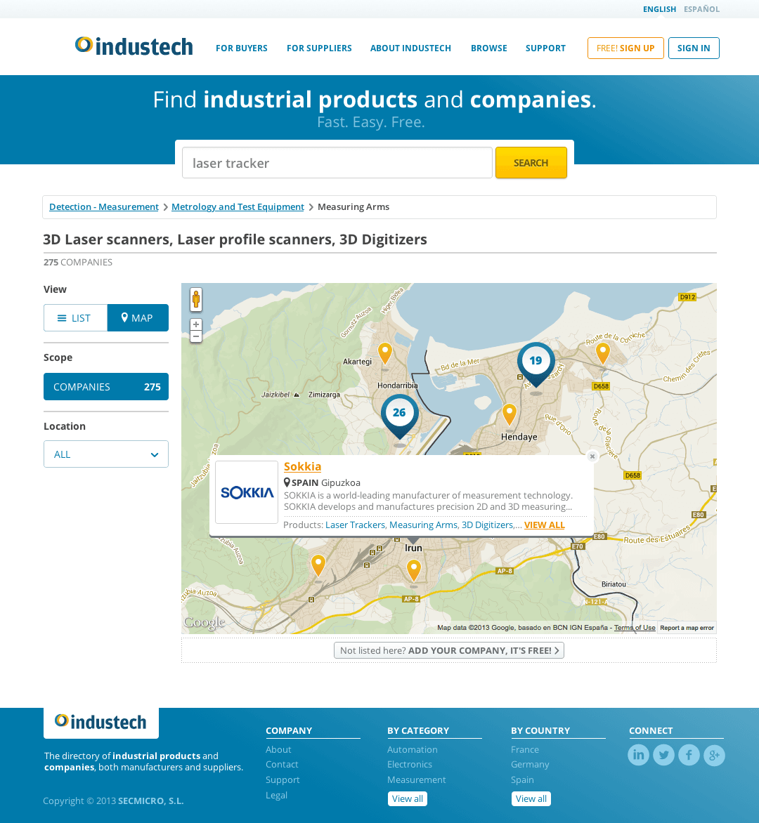 Industech - Search Results Map