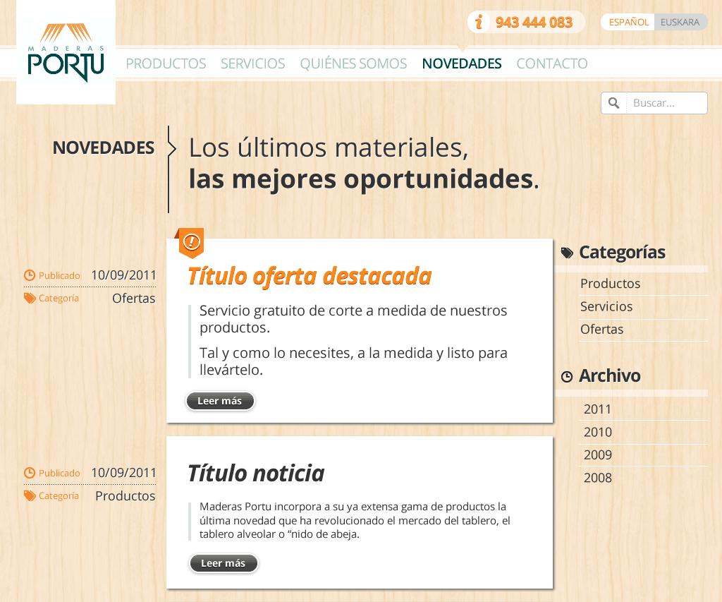 Maderas Portu - News